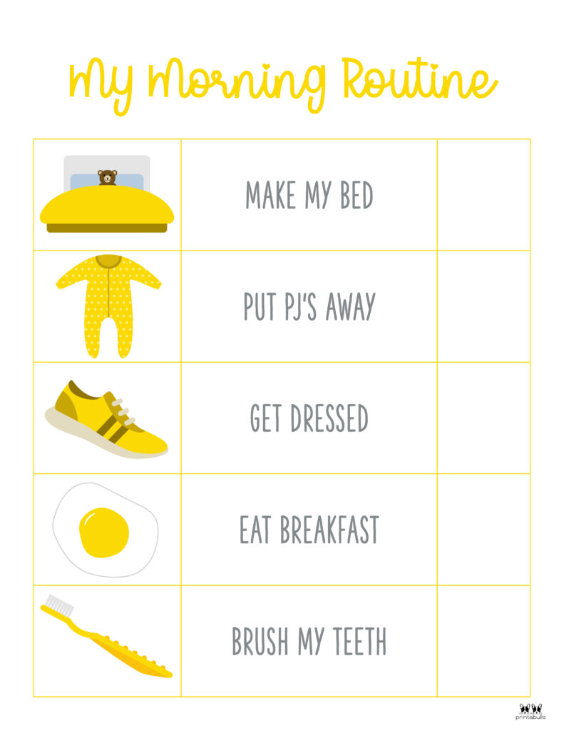 Printable Morning Routine Chart-Page 3