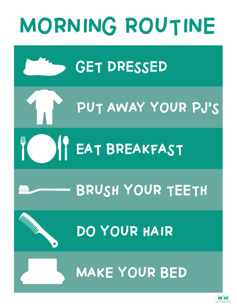 Printable Morning Routine Chart-Page 5