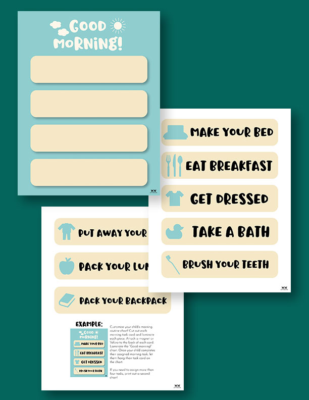 Printable Morning Routine Chart-Page 8