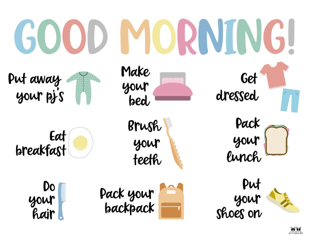 Printable Morning Routine Chart-Page 9
