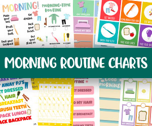 morning routine chart printables