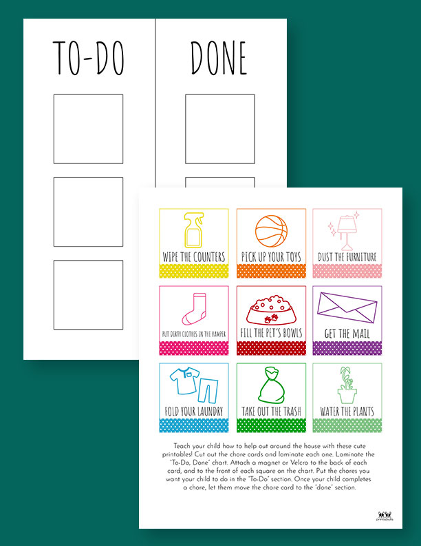 Printable Toddler Chore Chart-11