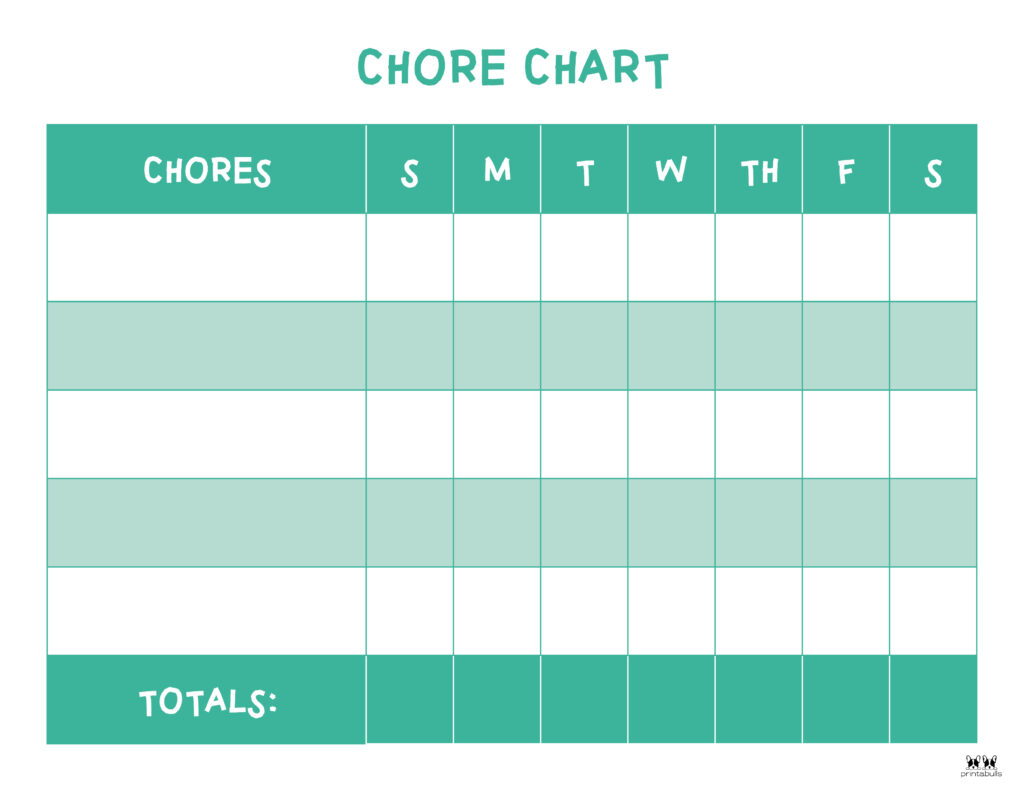 Printable Toddler Chore Chart-12