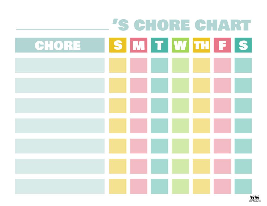 Printable Toddler Chore Chart-4