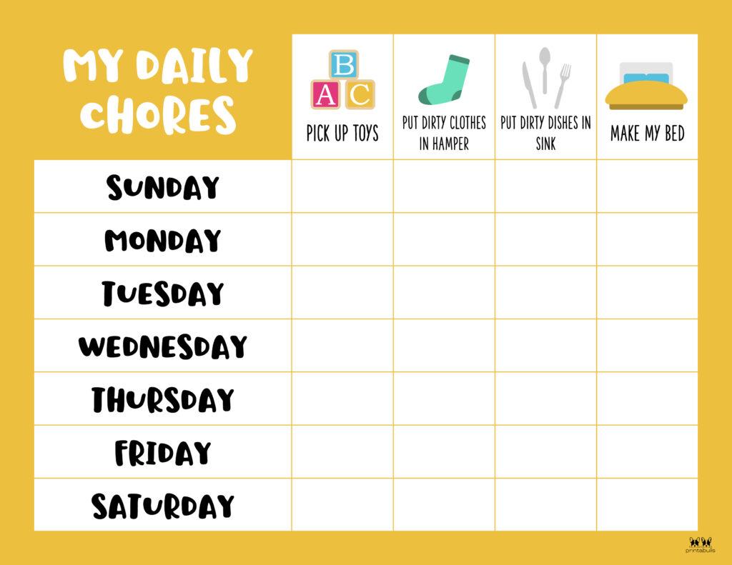 Printable Toddler Chore Chart-6