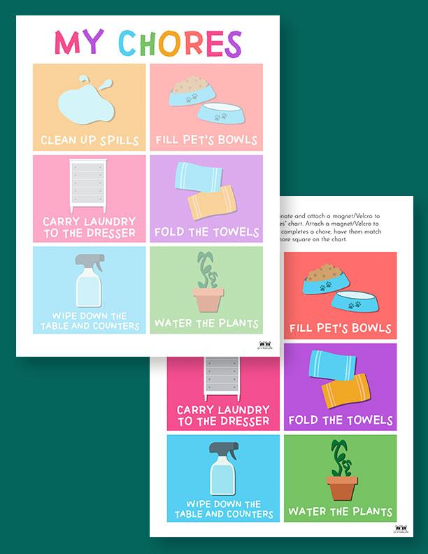 Printable Toddler Chore Chart-9