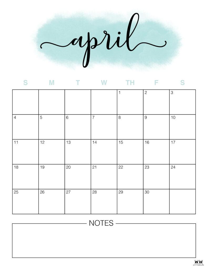 Printable April 2021 Calendar-Style 14