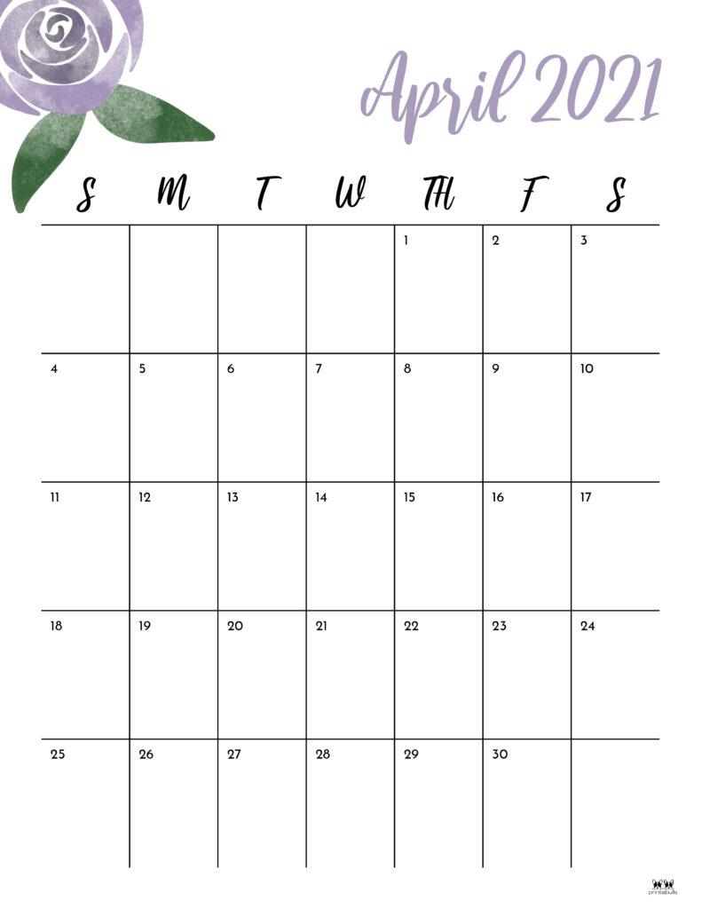 Printable April 2021 Calendar-Style 15