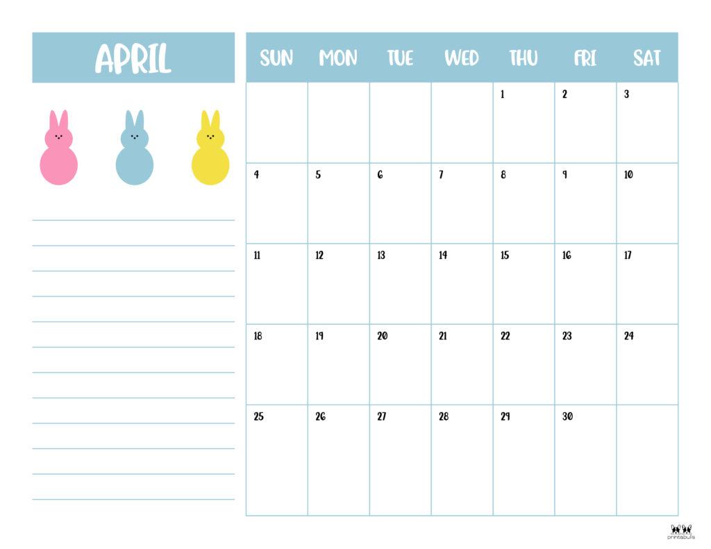 Printable April 2021 Calendar-Style 6