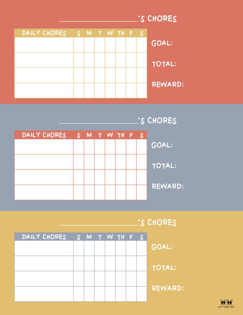Printable Multiple Children Chore Chart-10