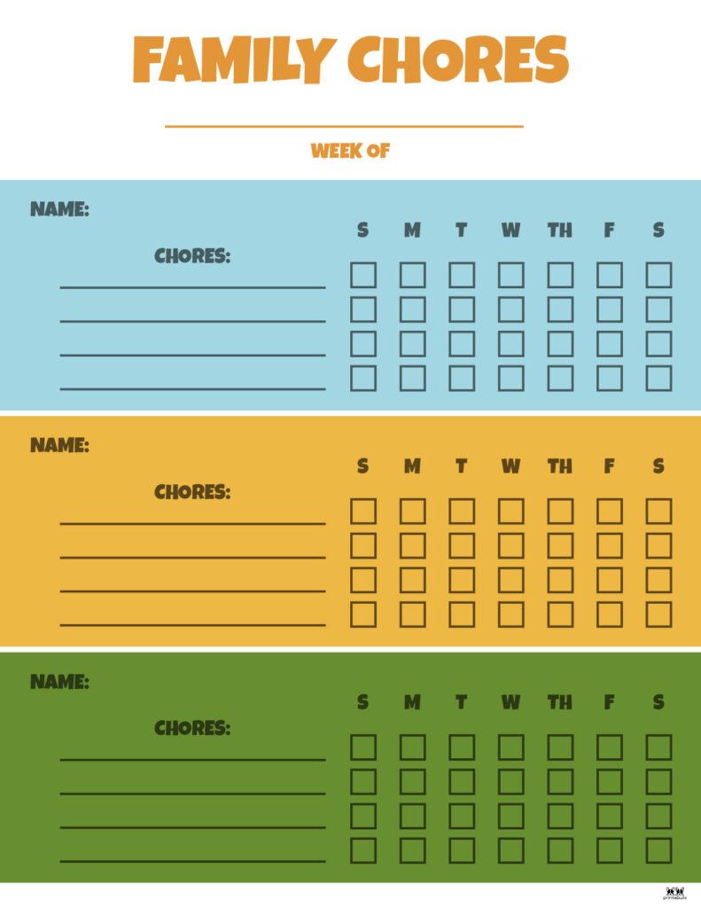 Printable Multiple Children Chore Chart-2