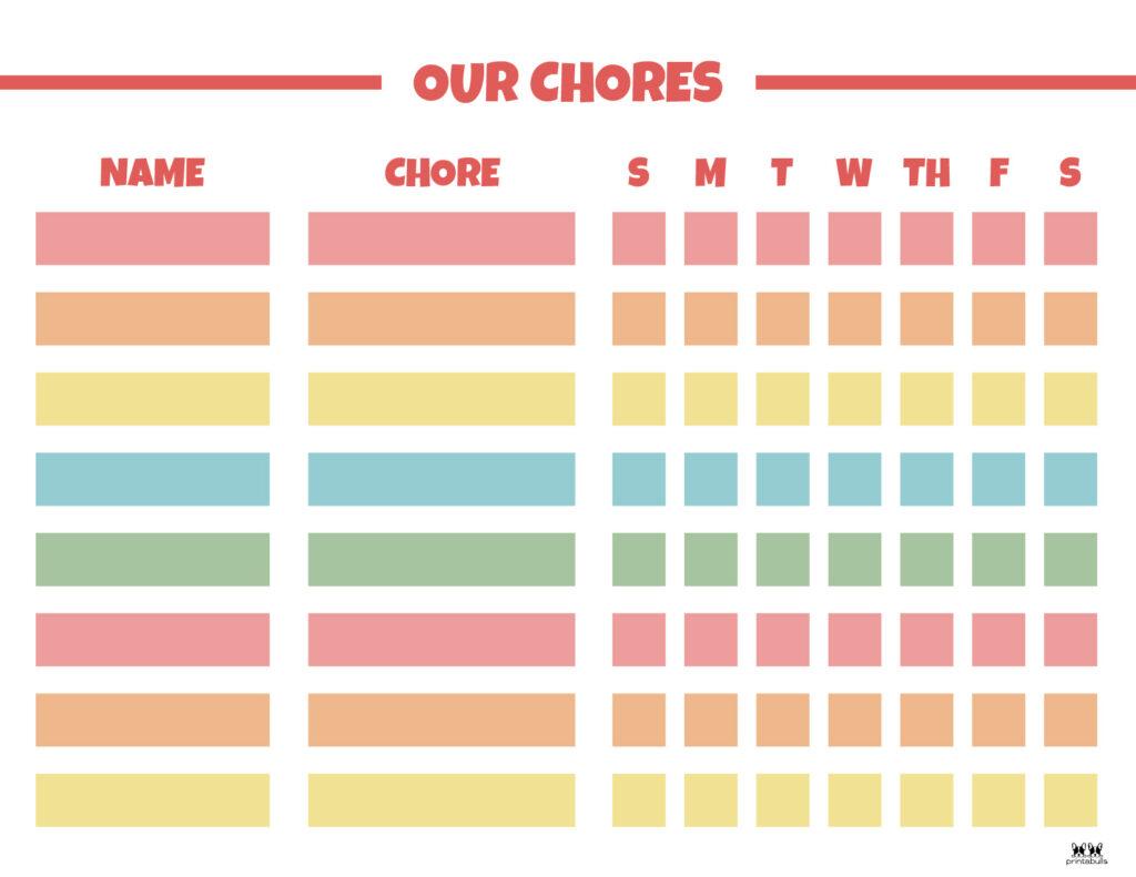 Printable Multiple Children Chore Chart-5