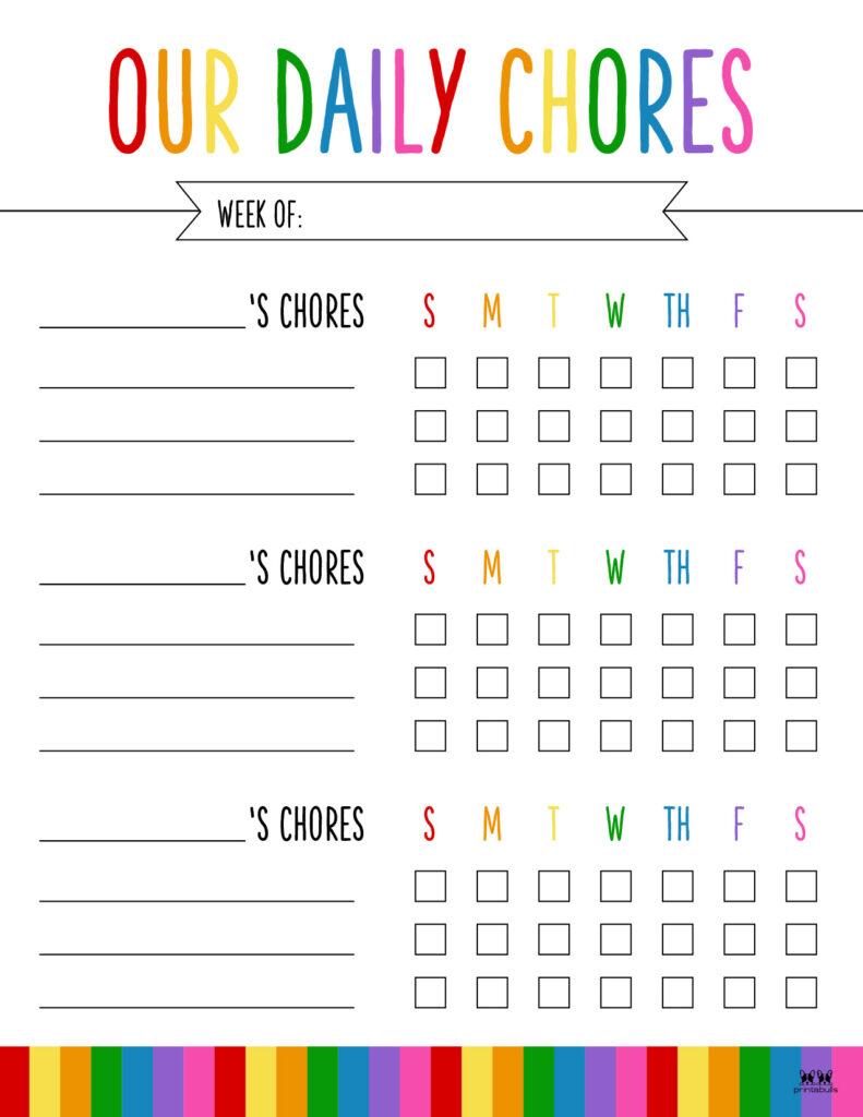 Printable Multiple Children Chore Chart-7