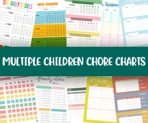 printable multiple children chore charts