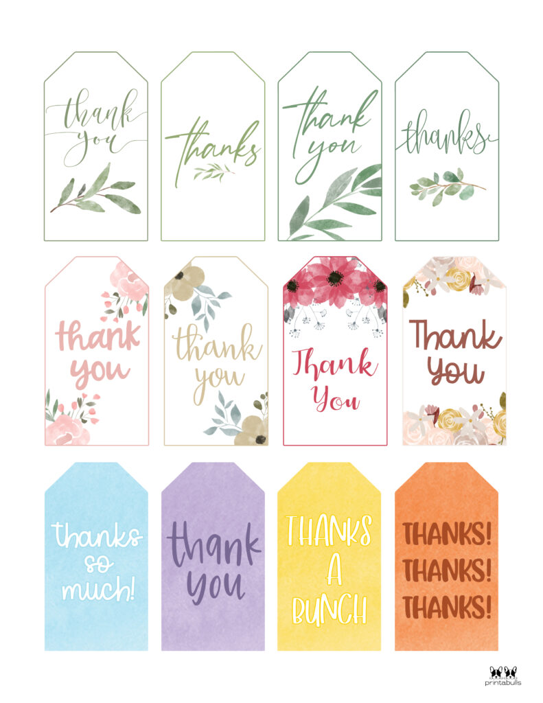 Printable Thank You Tags-Page 12