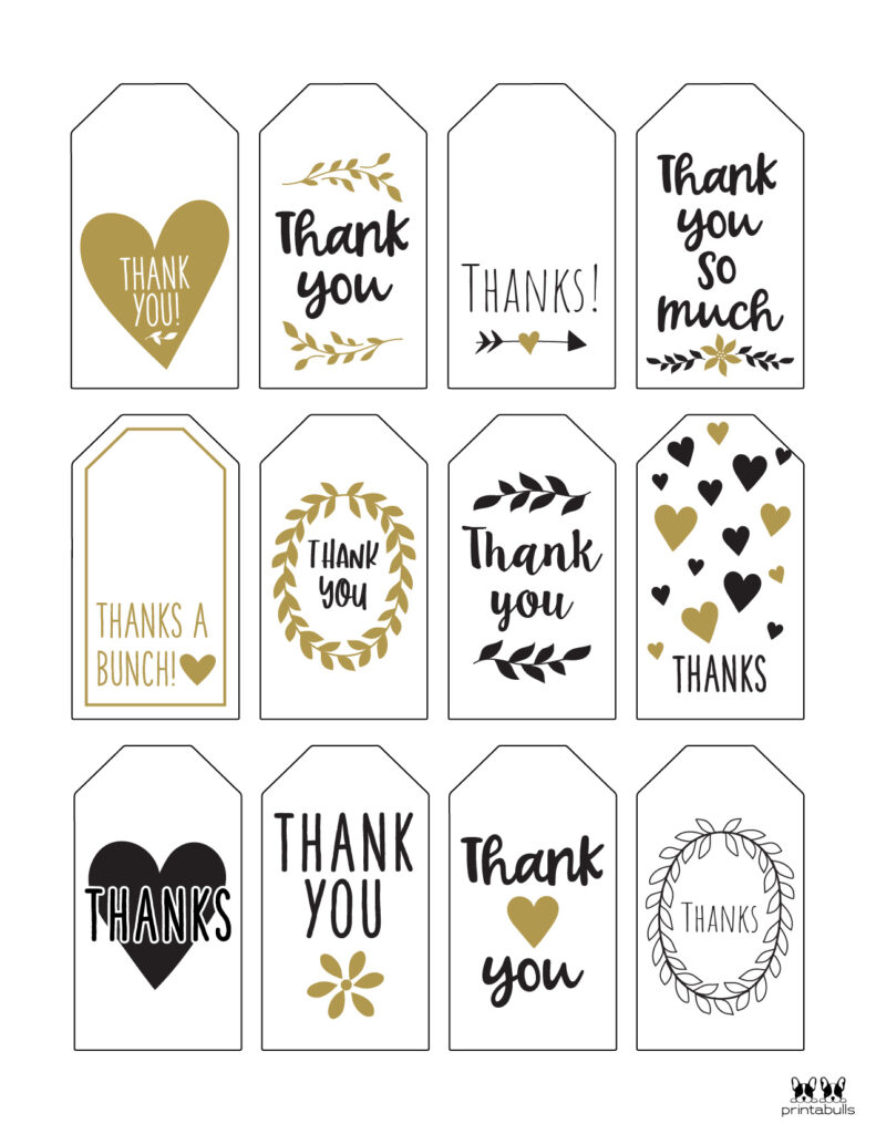 Printable Thank You Tags-Page 16