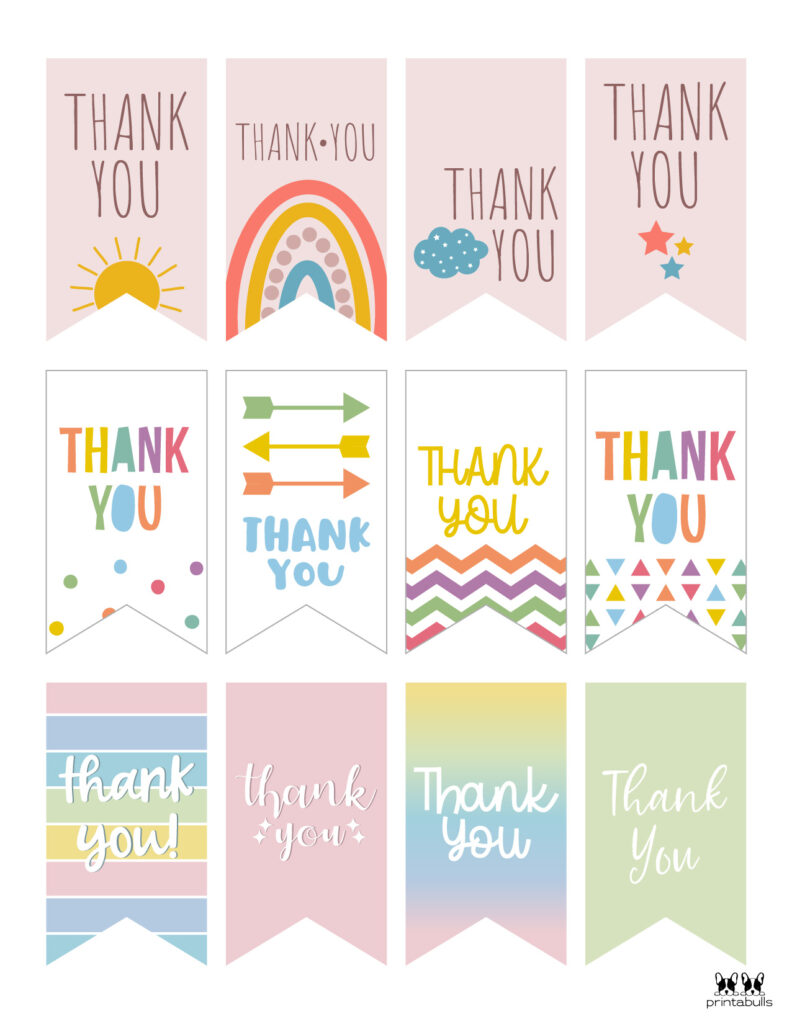 Printable Thank You Tags-Page 2