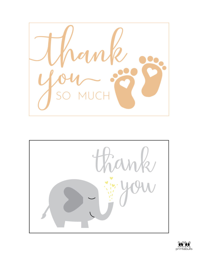 Printable Baby Shower Thank You Cards-Page 1