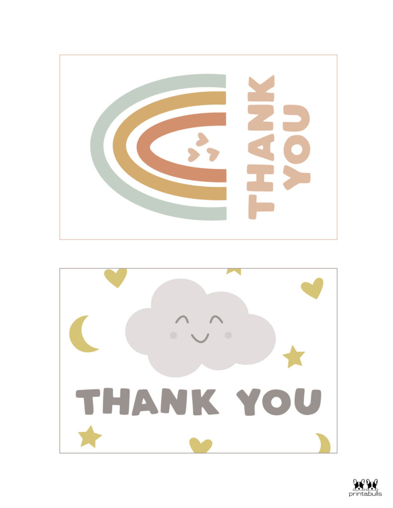 Printable Baby Shower Thank You Cards-Page 2