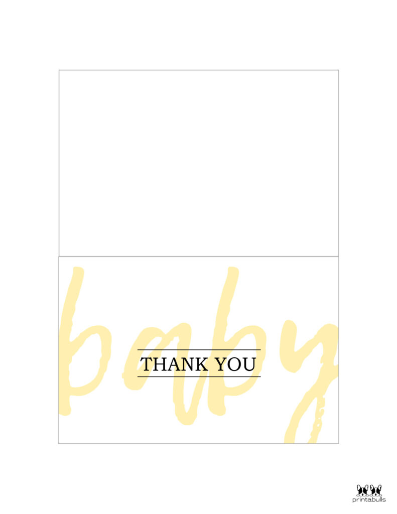 Printable Baby Shower Thank You Cards-Page 3