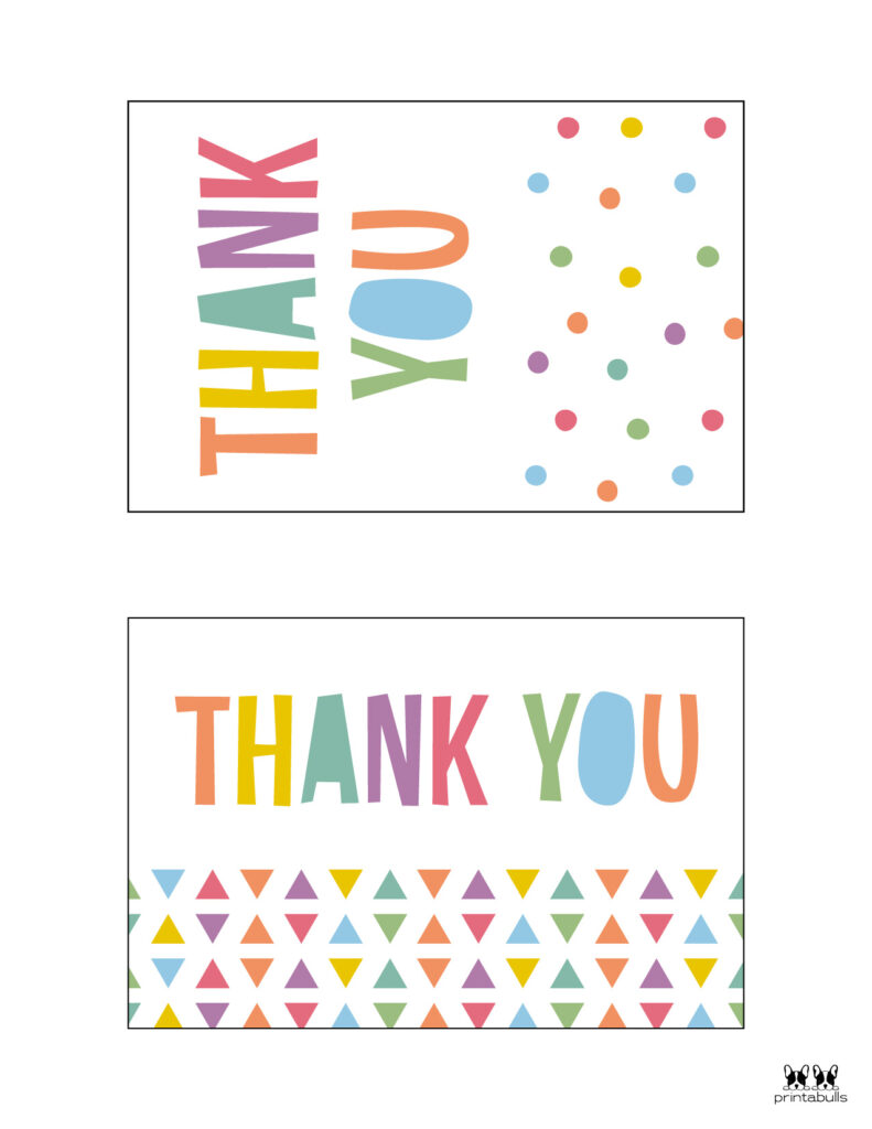 Printable Birthday Thank You Cards-Page 1