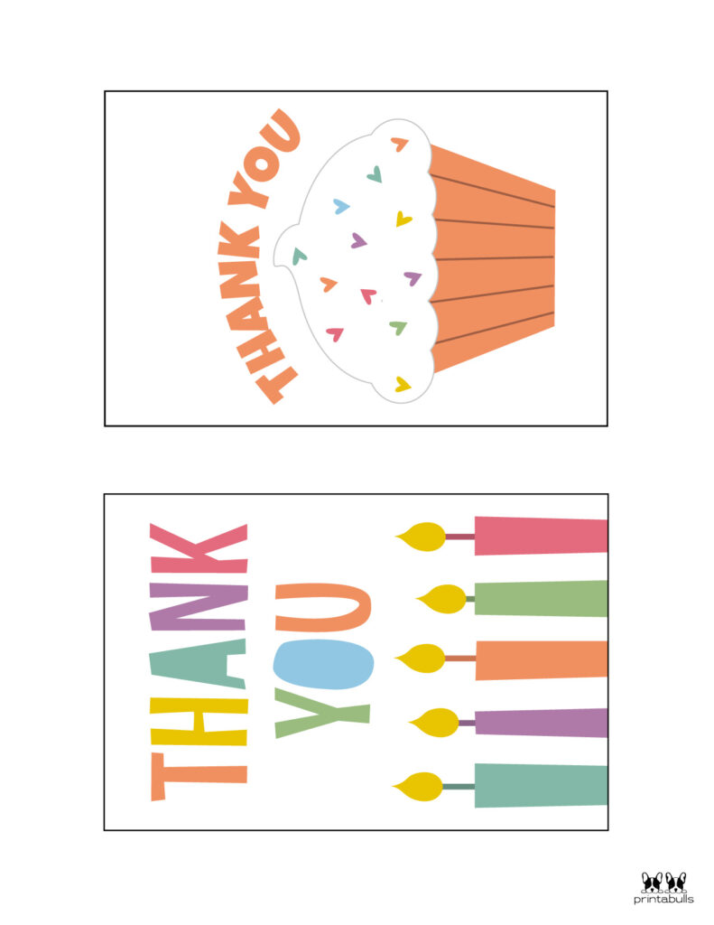 Printable Birthday Thank You Cards-Page 2