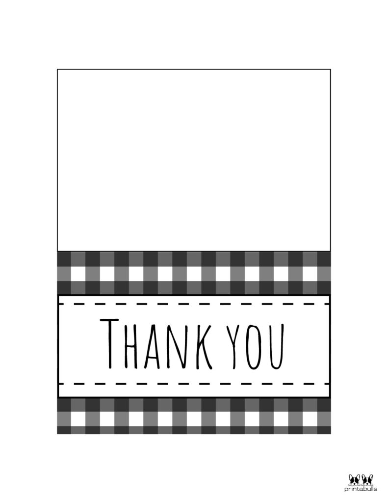 Printable Black and White Thank You Cards-Page 3