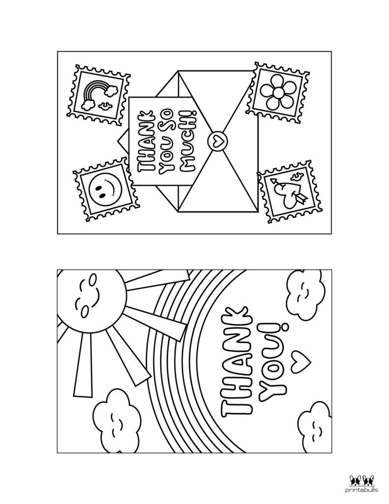 Printable Colorable Thank You Cards-Page 2