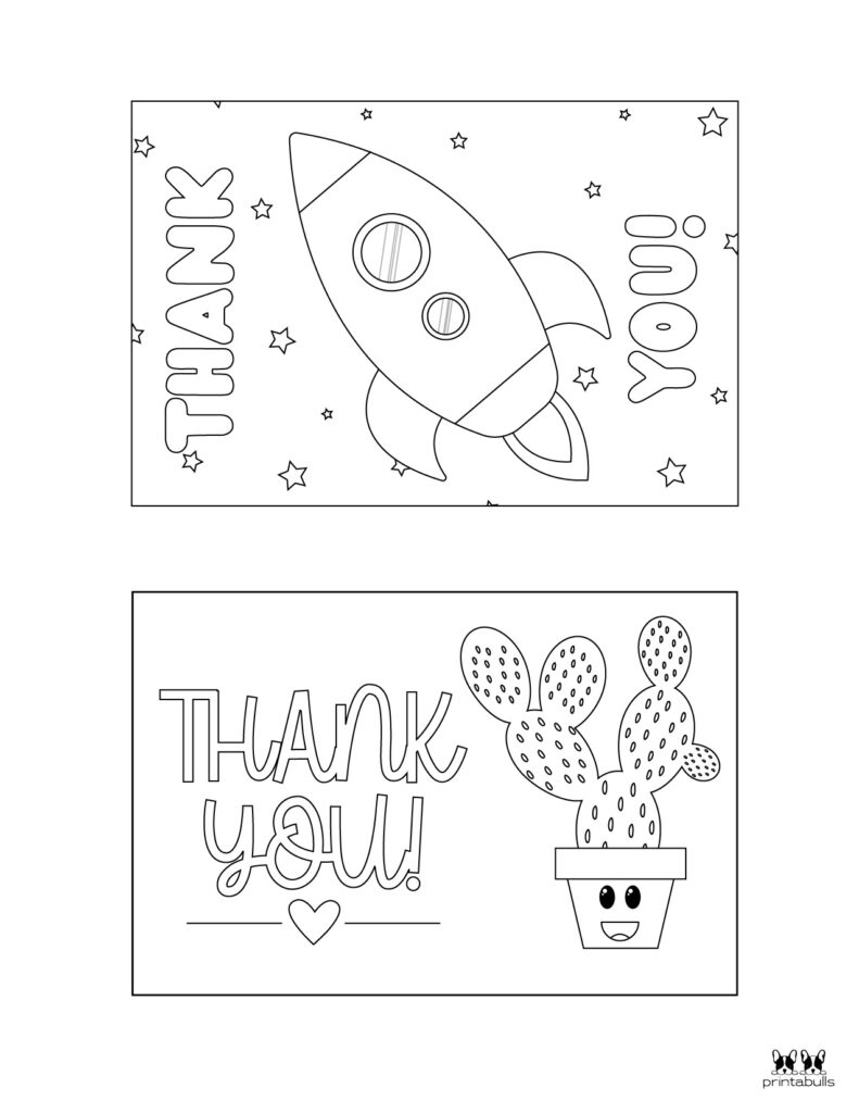 Printable Colorable Thank You Cards-Page 6