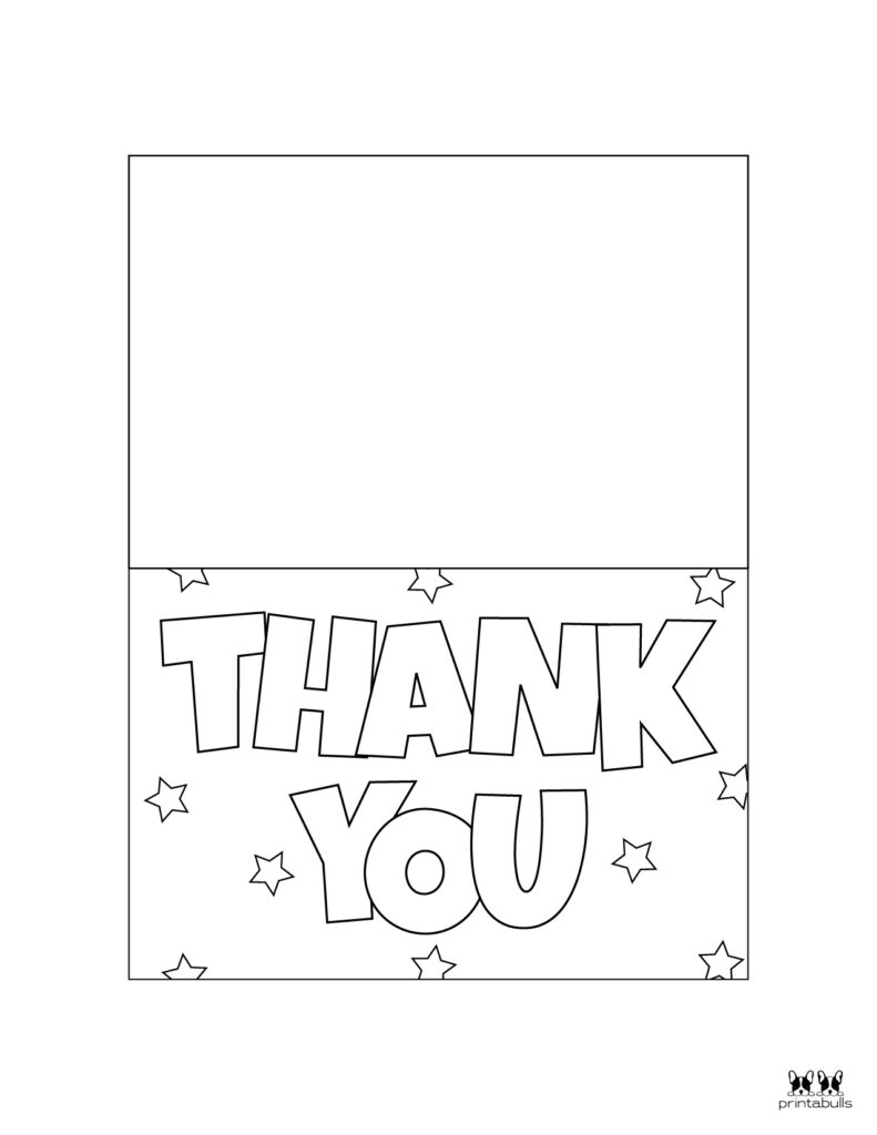 Printable Foldable Thank You Cards-Page 1