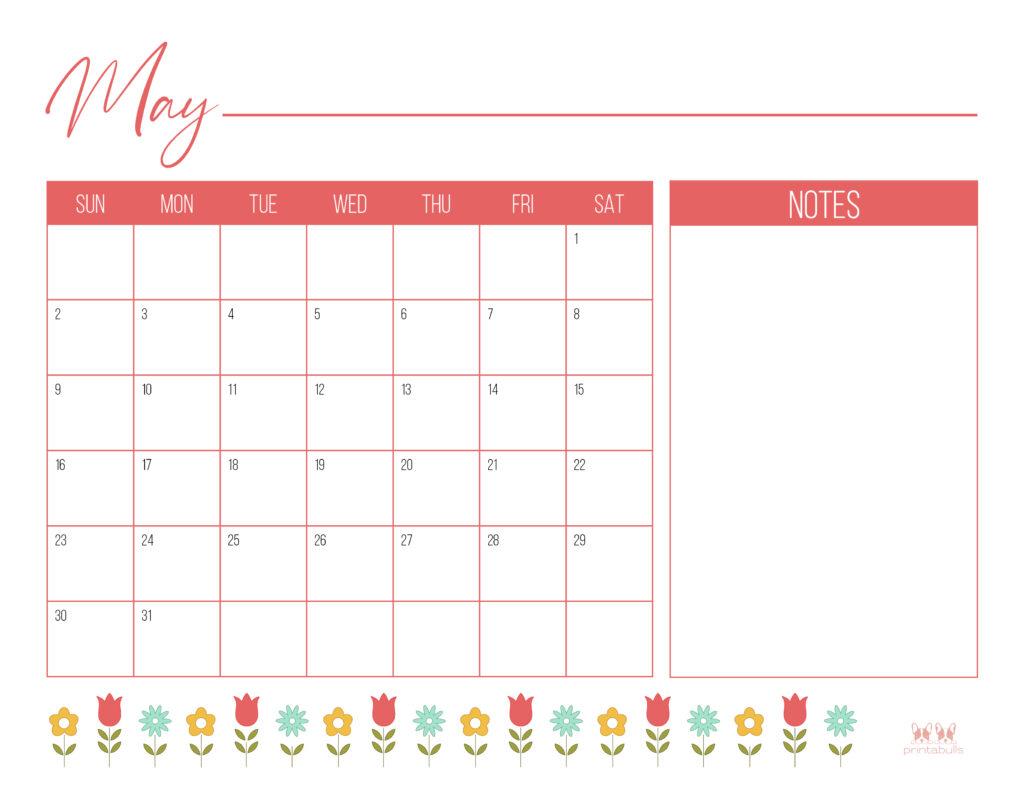 Printable May 2021 Calendar-Style 12
