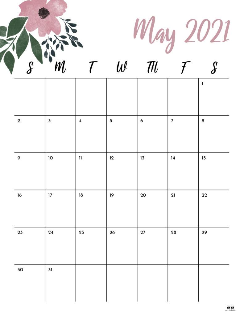 Printable May 2021 Calendar-Style 15