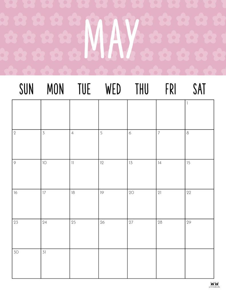 Printable May 2021 Calendar-Style 9