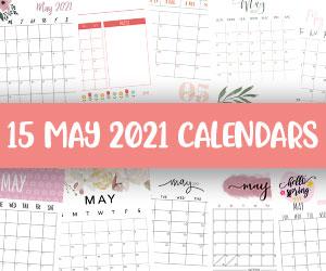 printable may 2021 calendars