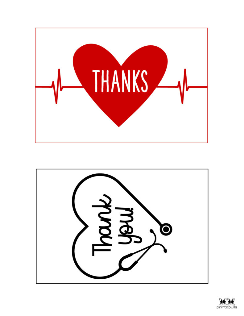 Printable Medical Staff Thank You Cards-Page 1