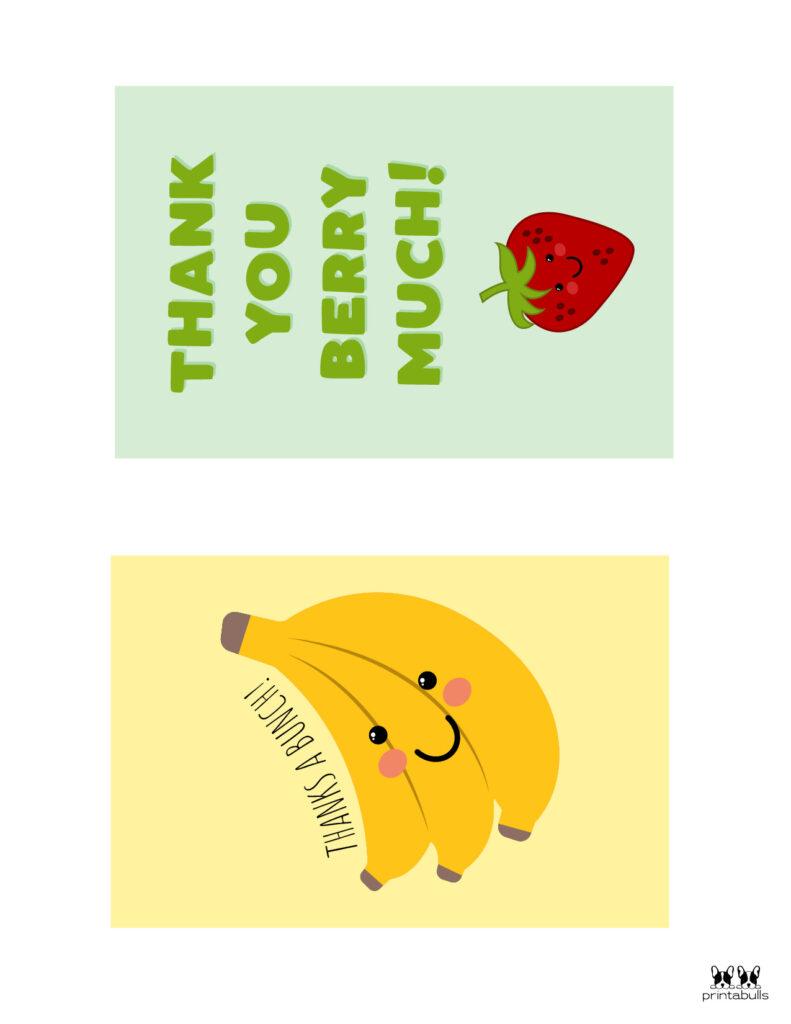Printable Pun Thank You Cards-Page 1