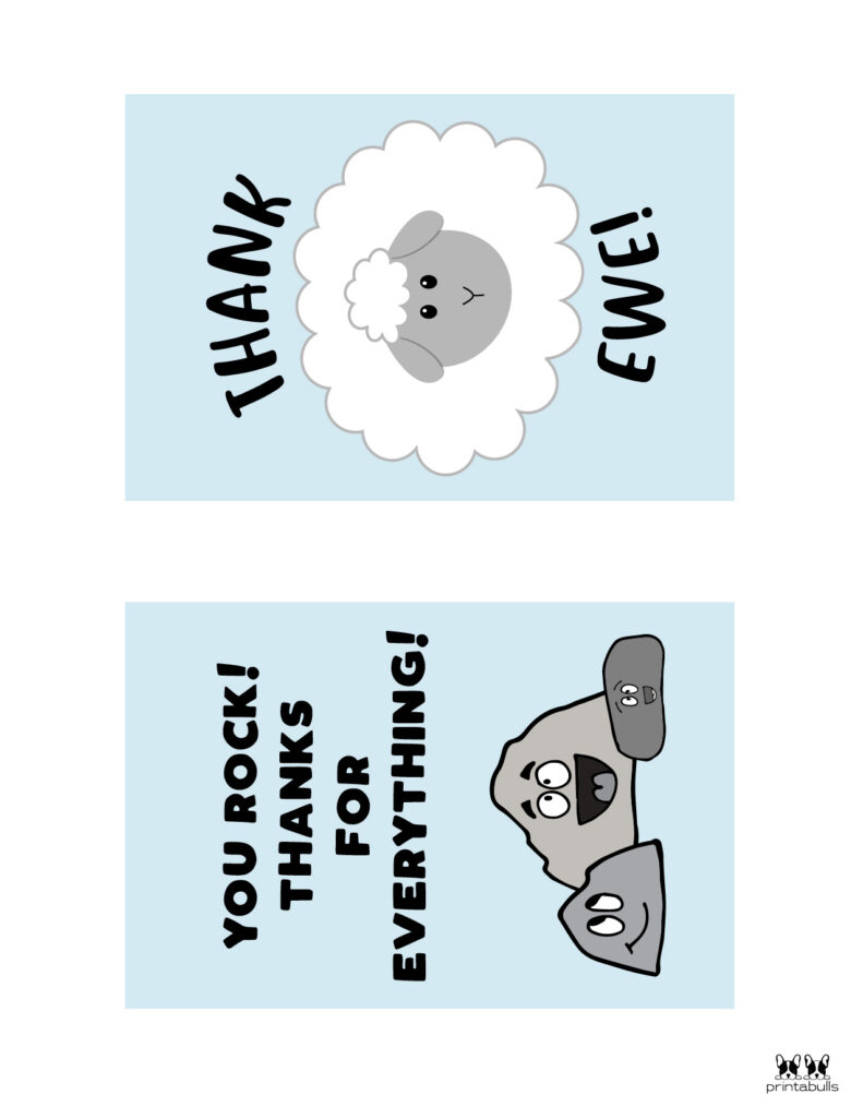 Printable Pun Thank You Cards-Page 4