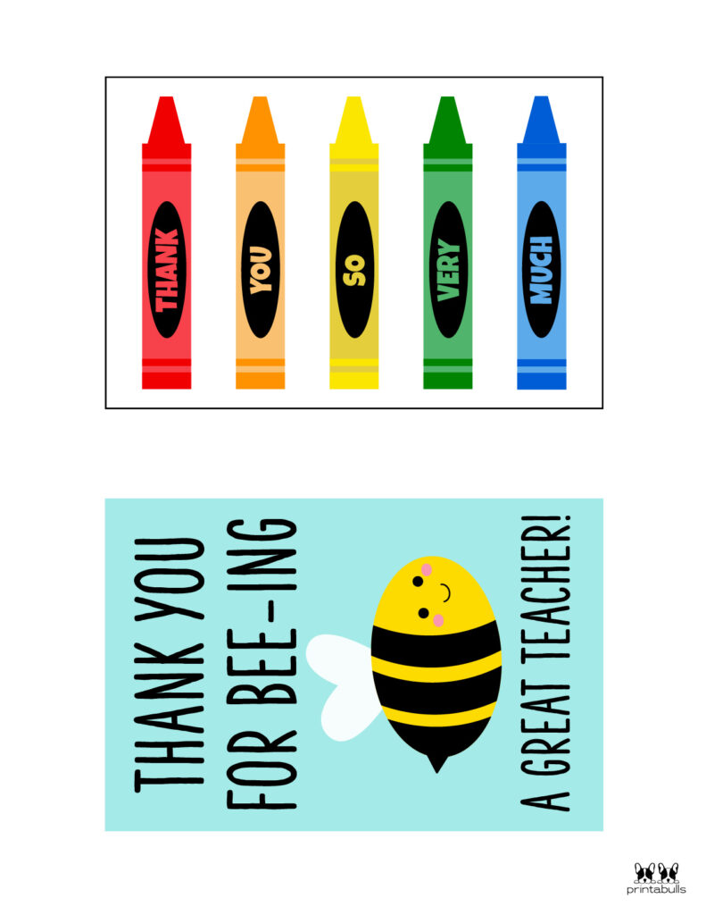 Printable Teacher_Student Thank You Cards-Page 1