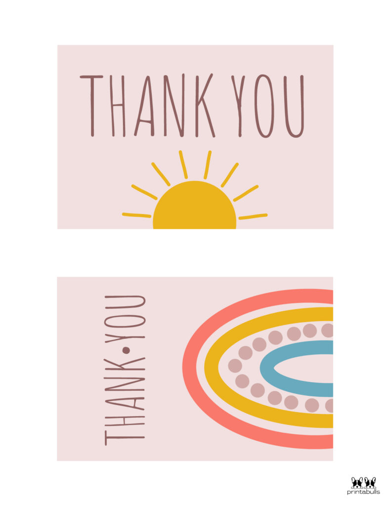 Printable Thank You Cards-Page 1