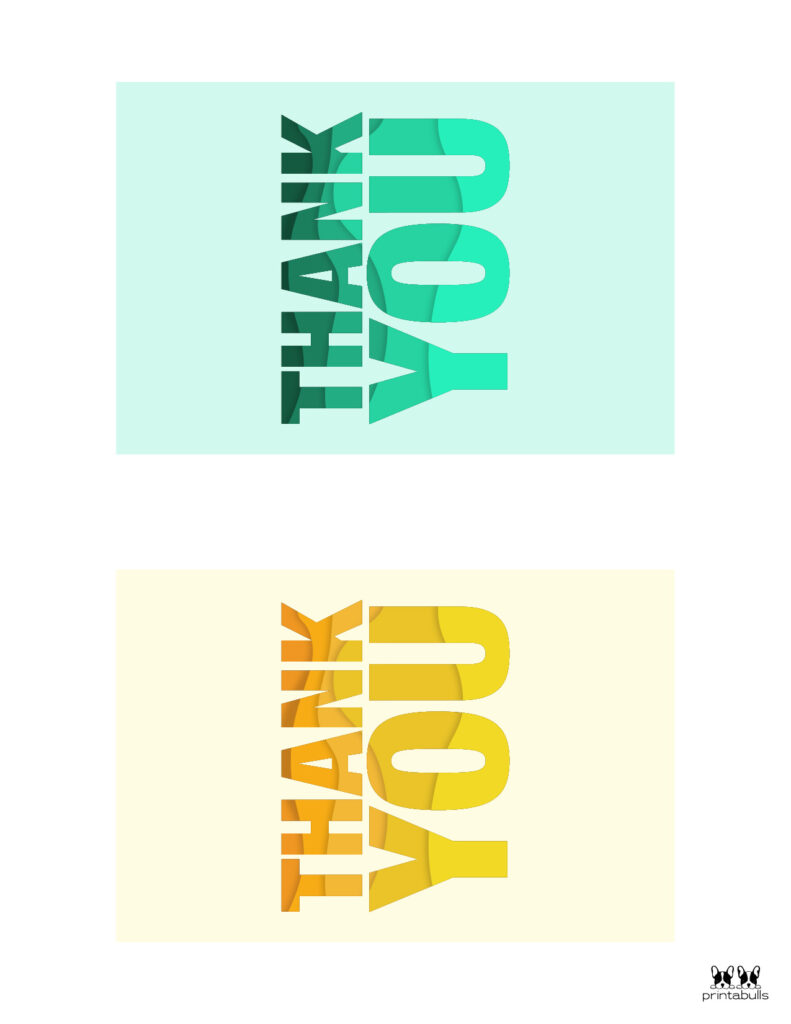 Printable Thank You Cards-Page 25