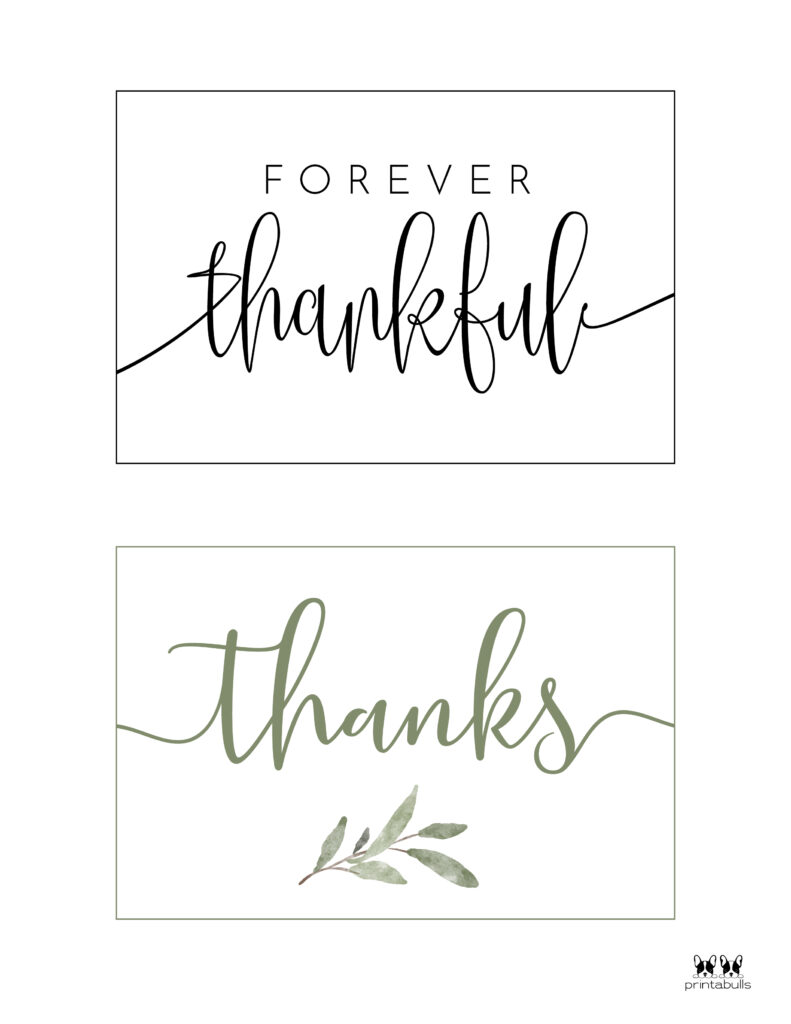 Printable Wedding Thank You Cards-Page 1