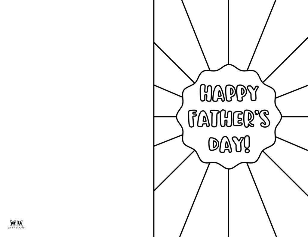 Printable Father's Day Coloring Page-Page 10