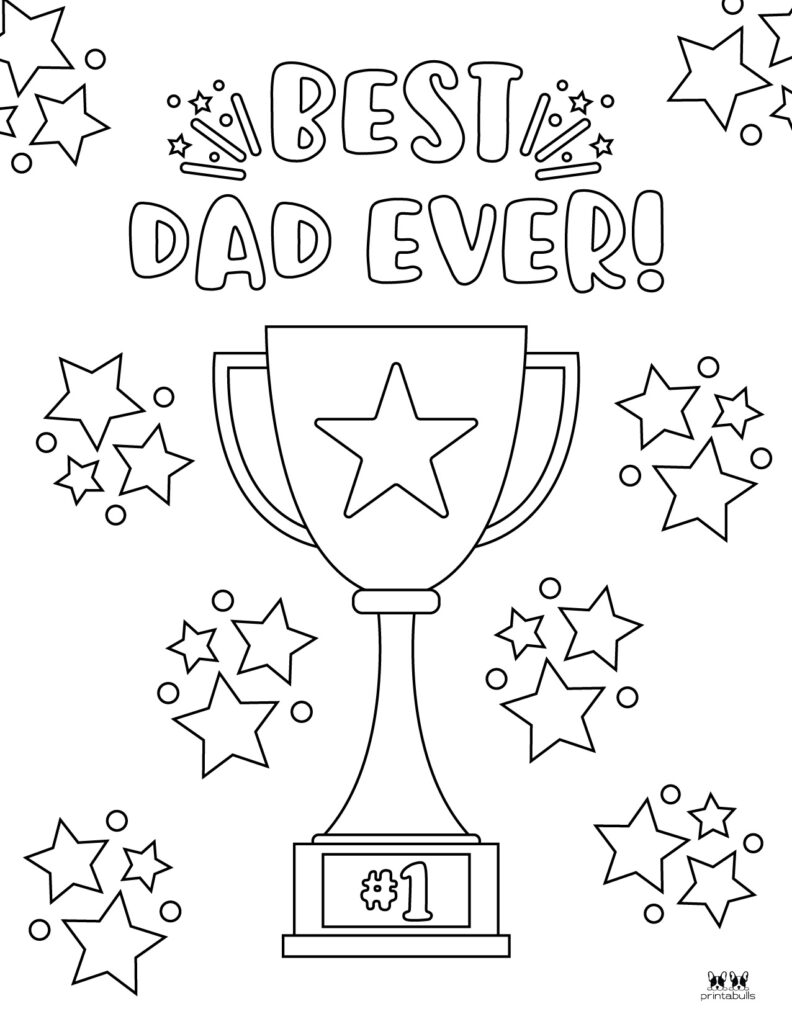 Printable Father's Day Coloring Page-Page 4