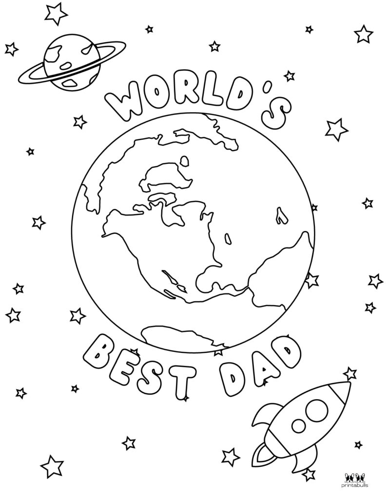 Printable Father's Day Coloring Page-Page 8