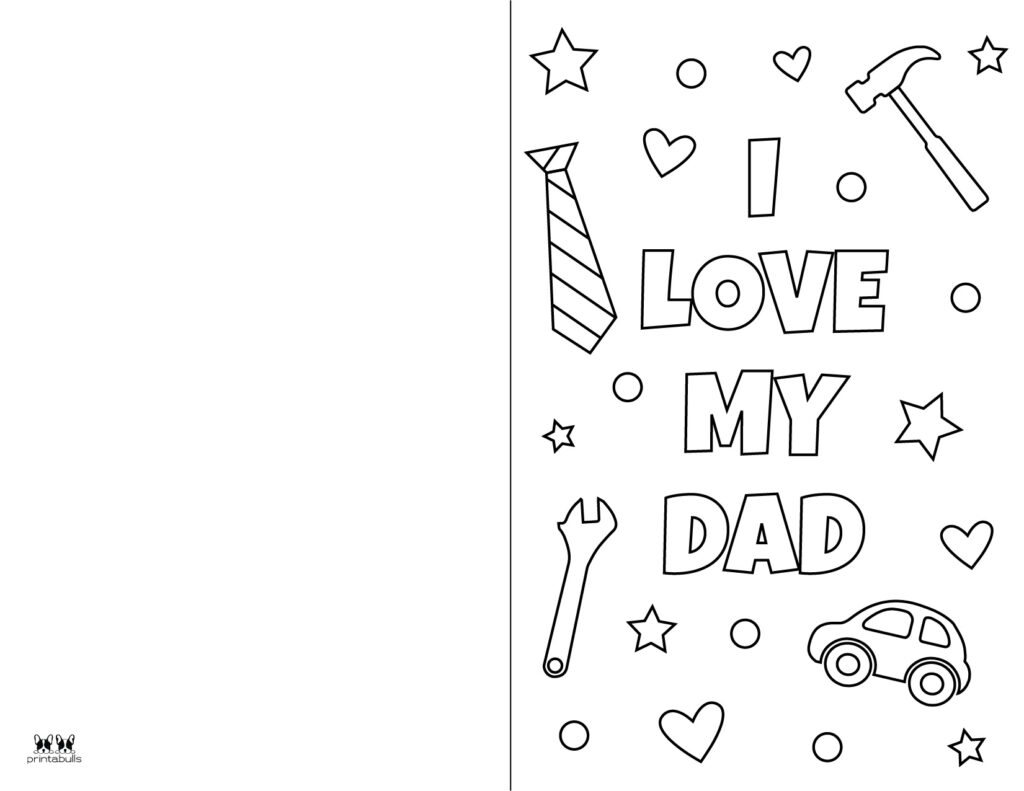 Printable Father's Day Coloring Page-Page 9