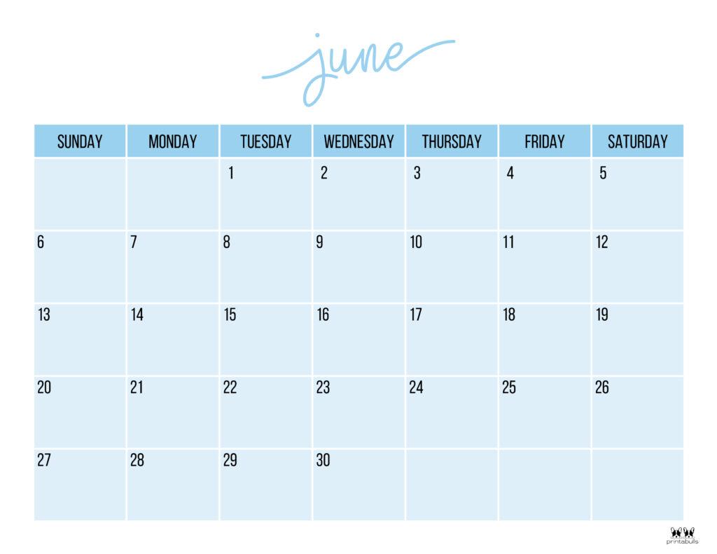 Printable June 2021 Calendar-Style 11