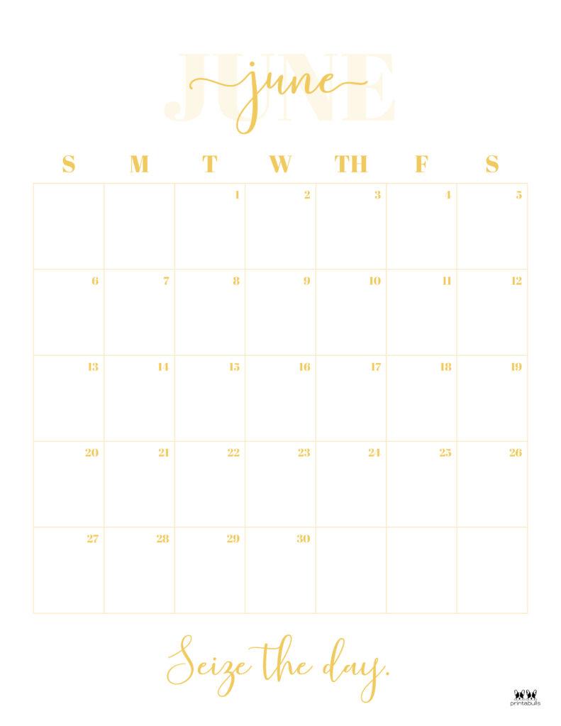 Printable June 2021 Calendar-Style 13