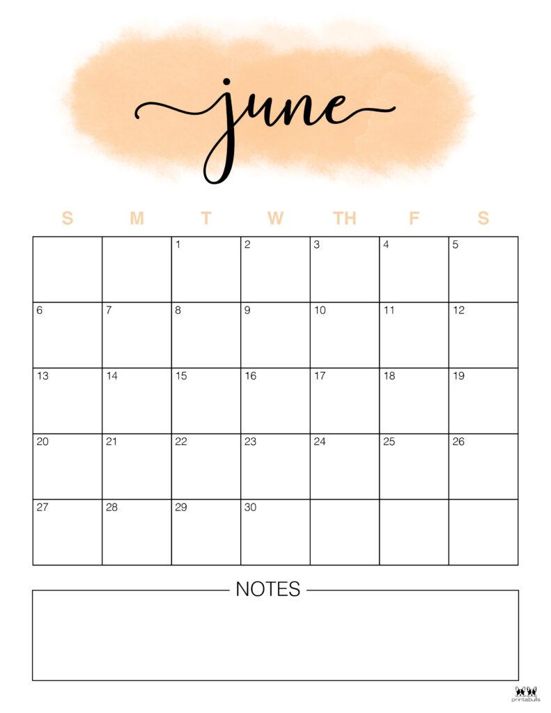 Printable June 2021 Calendar-Style 14