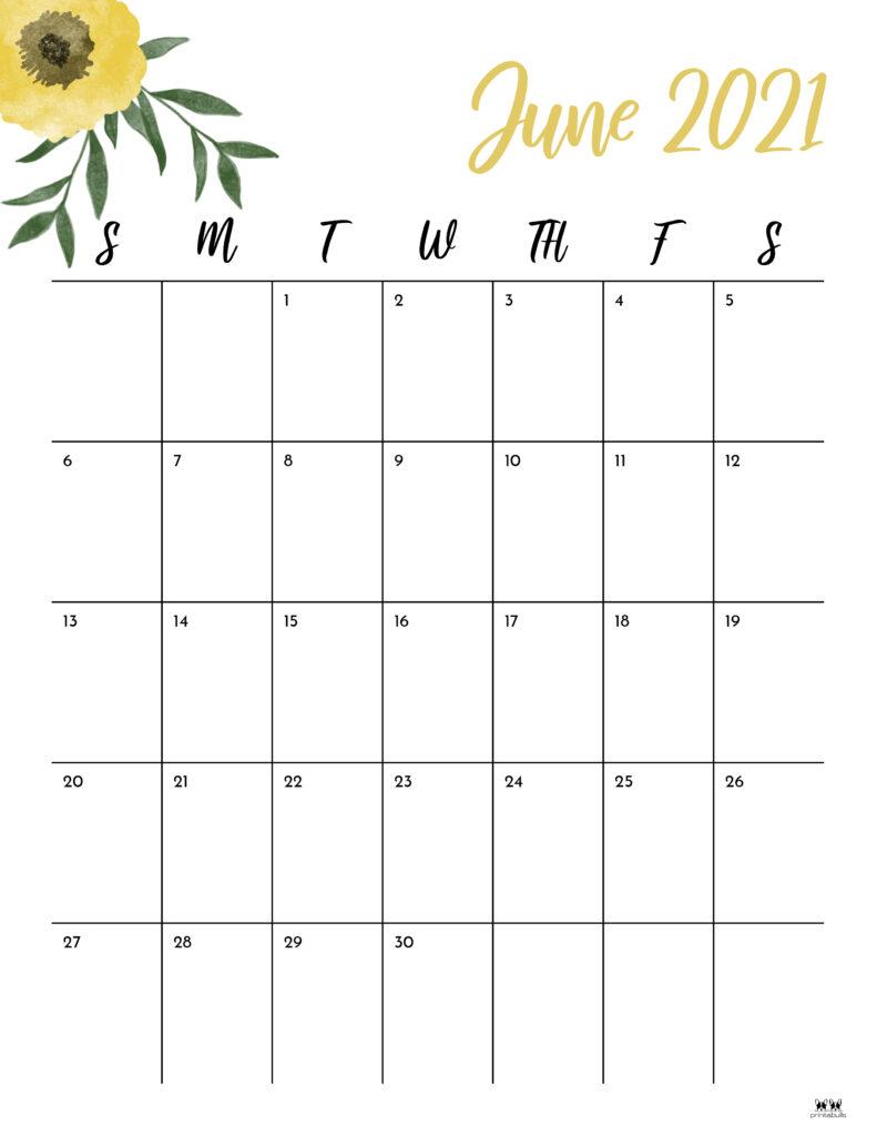Printable June 2021 Calendar-Style 15