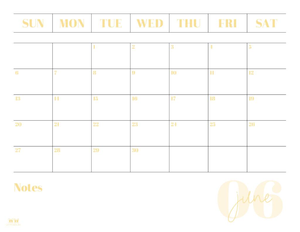 Printable June 2021 Calendar-Style 2